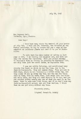 1941/07/28: Joseph M. Cudahy to Raymond Bell