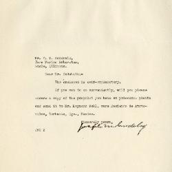 1941/07/29: Joseph M. Cudahy to Clarence E. Godshalk