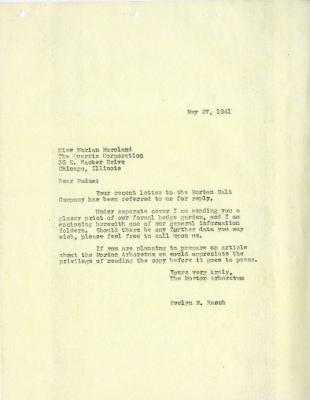 1941/05/27: Evelyn Rasch to Marian Moreland