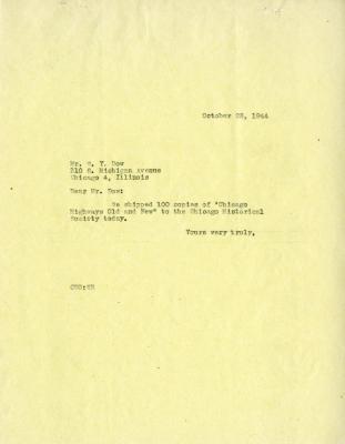 1944/10/28: C. E. Godshalk to W. Y. Dow