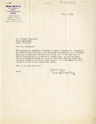 1942/10/09: Mark Morton to Clarence Godshalk