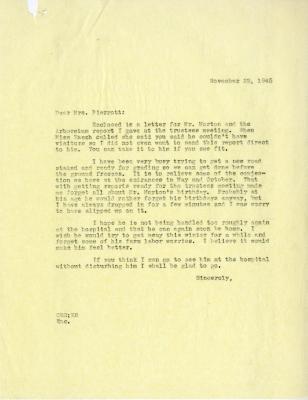 1945/11/29: C. E. Godshalk to Mrs. Pierrott