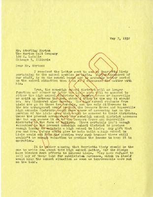 1952/05/07: C. E. Godshalk to Sterling Morton