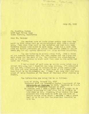 1955/07/26: C. E. Godshalk to Sterling Morton