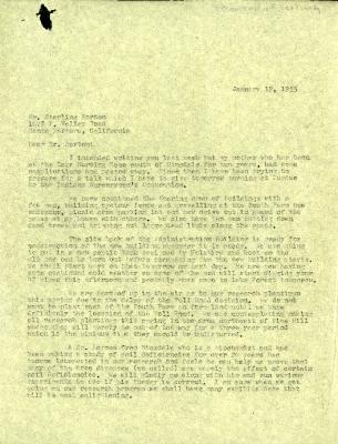 1955/01/19: Clarence E. Godshalk to Sterling Morton