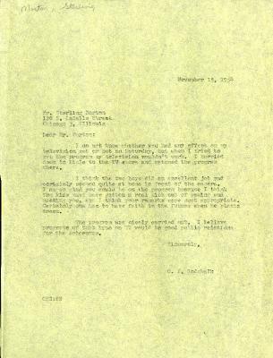 1954/11/15: Clarence Godshalk to Sterling Morton