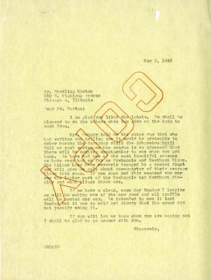1946/05/02: C. E. Godshalk to Sterling Morton