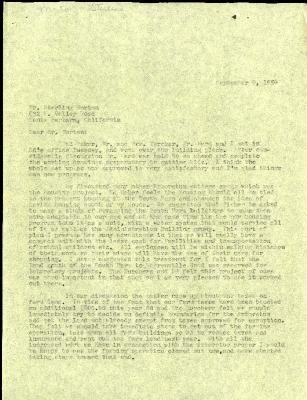 1954/09/09: C. E. Godshalk to Sterling Morton