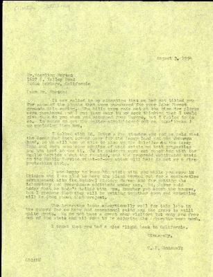 1954/08/03: C. E. Godshalk to Sterling Morton