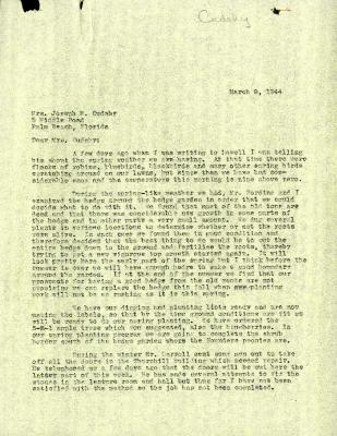 1944/03/09: Clarence E. Godshalk to Jean M. Cudahy