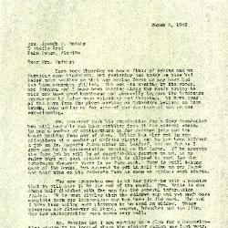 1943/03/03: Clarence E. Godshalk to Jean M. Cudahy