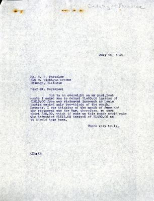 1942/09/28: Clarence E. Godshalk to D. S. Parmelee
