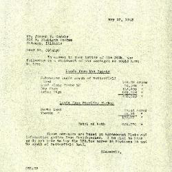 1943/05/27: Clarence E. Godshalk to Joseph M. Cudahy