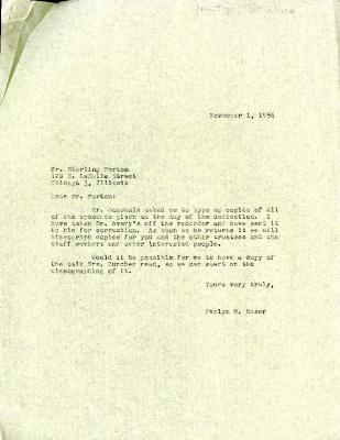 1956/11/01: Evelyn Naser to Sterling Morton