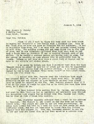 1944/01/03: Clarence E. Godshalk to Jean M. Cudahy