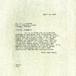 1943/04/29: Clarence E. Godshalk to D. S. Parmelee