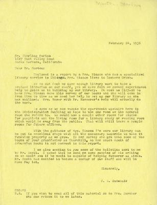 1956/02/24: C. E. Godshalk to Sterling Morton