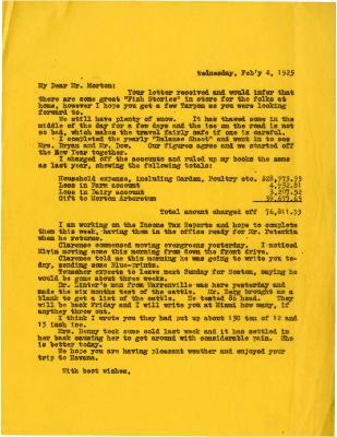 1925/02/04: Unknown sender to Joy Morton