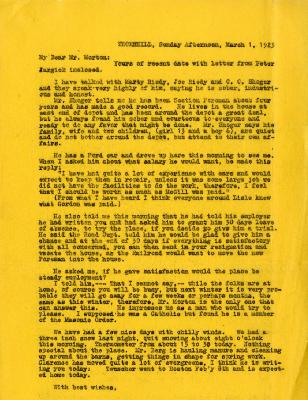 1925/03/01: Unknown sender to Joy Morton