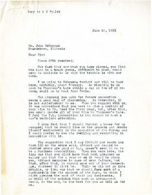 1923/06/26: Unknown sender to John McDorman