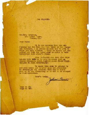 1923/05/13: John Goodell to John McDorman