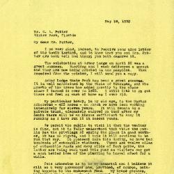 1932/05/18: Joy Morton to E.A. Potter