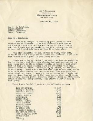 1925/10/13: Lee R. Bonnewitz to C. E. Godshalk