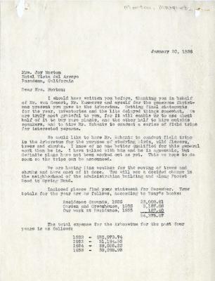 1936/01/20: C.E. Godshalk to Mrs. Joy (Margaret) Morton