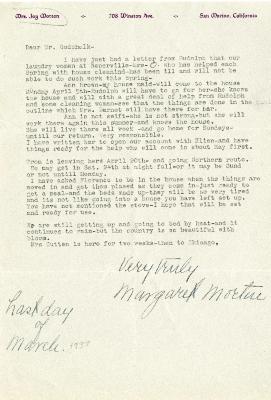 1937/03/31: Mrs. Joy (Margaret) Morton to C.E. Godshalk