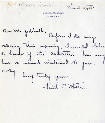 03/29: Mrs. Joy Morton II to Clarence Godshalk