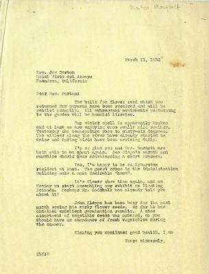 1936/03/11: E. L. Kammerer to Mrs. Joy Morton