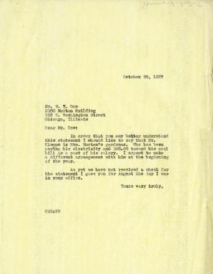 1937/10/28: Clarence Godshalk to W. Y. Dow