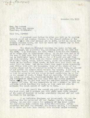 1935/12/13: C.E. Godshalk to Mrs. Joy (Margaret) Morton