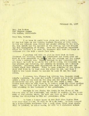 1937/02/20: Clarence Godshalk to Margaret Morton