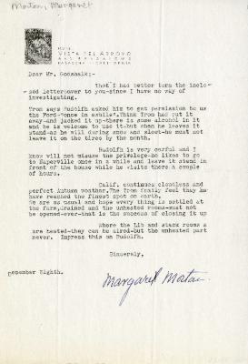 [1935]/12/08: Margaret Morton to C.E. Godshalk