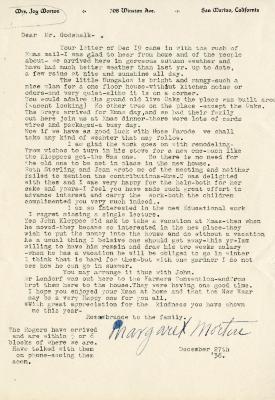 1936/12/27: Margaret Morton to Clarence Godshalk