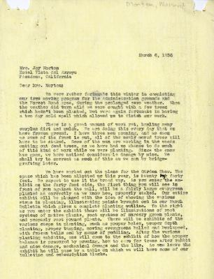 1936/03/06: C.E. Godshalk to Mrs. Joy (Margaret) Morton