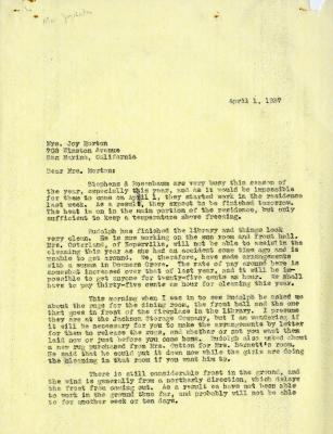1937/04/01: C.E. Godshalk to Mrs. Joy (Margaret) Morton