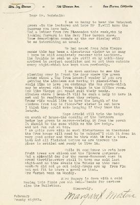 1937/02/28: Mrs. Joy (Margaret) Morton to C.E. Godshalk