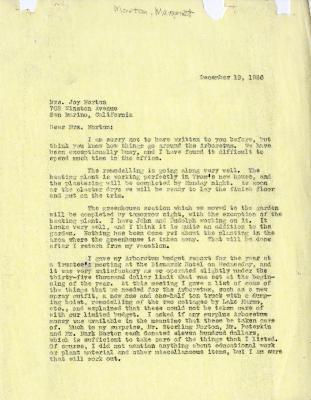 1936/12/19: Clarence Godshalk to Margaret Morton