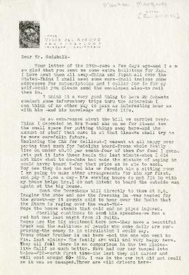 1936/01/26: Margaret Morton to C.E. Godshalk