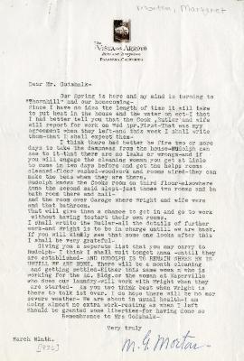 1936/03/09: Margaret Morton to C.E. Godshalk