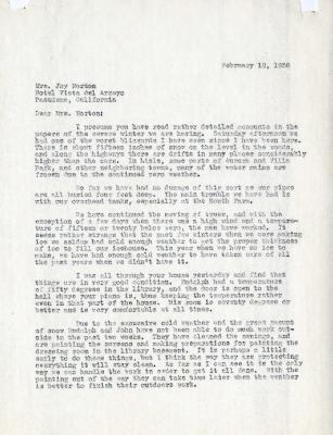 1936/02/12: C. E. Godshalk to Mrs. Joy (Margaret) Morton