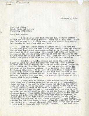 1935/12/06: C.E. Godshalk to Mrs. Joy (Margaret) Morton