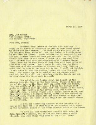 1937/03/12: C.E. Godshalk to Mrs. Joy (Margaret) Morton