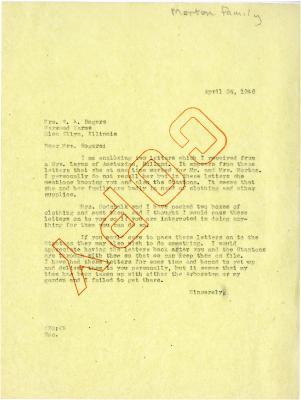 1946/04/24: Clarence Godshalk to Mrs. W. A. Rogers