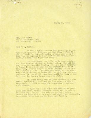 1935/03/30: Clarence Godshalk to Mrs. Joy Morton