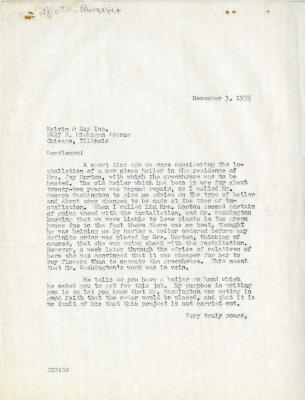 1935/12/03: C.E. Godshalk to Malvin & May Inc.