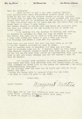 1937/04/08: Mrs. Joy (Margaret) Morton to C.E. Godshalk