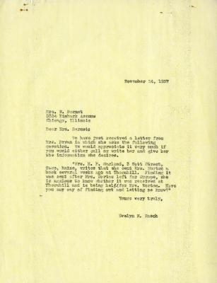 1937/11/24: Evelyn M. Rasch to Mrs. M. Barnet